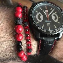 2pcs/Set Red Bracelet Braiding Macrame Cord for Men