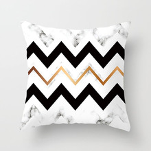 Fuwatacchi Geometric Painting Cushion Cover Marble Texture Wave Decor Throw Pillows Bed Sofa Decorative Case