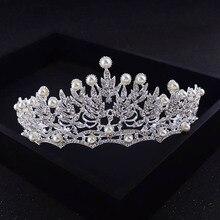 New Bride Wedding Crown Bride Retro 1 Color full Crystal Crown Princess Headdress Sweet Hair Ornaments Wedding Jewelry HG-S014J