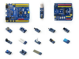 STM32 Board Nucleo XNUCLEO-F411RE Package A Nucleo Compatible with NUCLEO-F411RE, Comes with Various Sensors modules rs485 can shield designed for nucleo xnucleo compatible with aduno boards like uno leonardo nucleo xnucleo