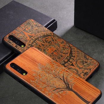 2019 New For Huawei P30 P20 Pro Case Slim Wood Back Cover TPU Bumper Case On Huawe P20 P30 lite Huawei P30 Pro Phone Cases
