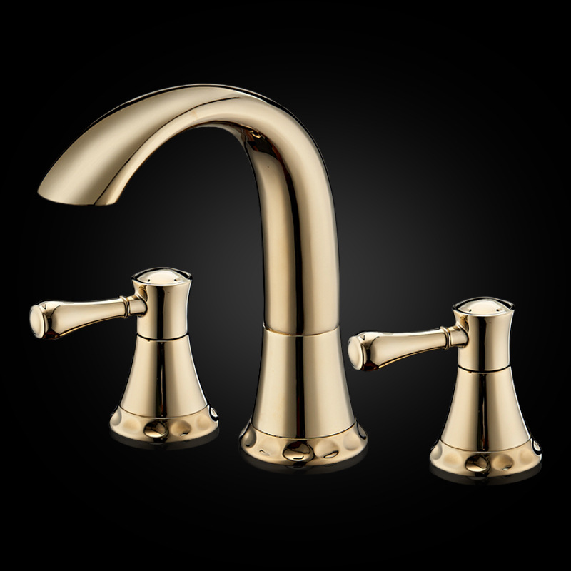 Luxury 100% All Solid Brass Fashion Antique 3 Holes Basin Faucet Bathroom Vintage American Vanity Tap Antique Sink Faucet Mixer new designed antique brass bamboo arts bathroom basin sink drain pop up waste vanity with overflow