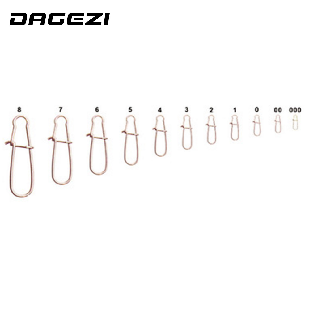 DAGEZI 100 pcs/lot 11size fishing gear accessories Connector copper swivel Stainless steel swivels black/white fishing tackle outkit 10pcs lot copper lead sinker weights 10g 7g 5g 3 5g 1 8g sharped bullet copper fishing accessories fishing tackle