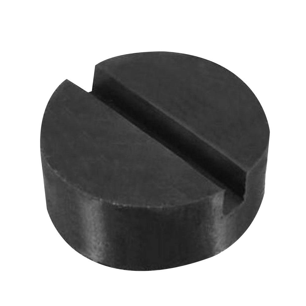 VEHEMO Universal Black Slotted Rubber Disc Pad Car Vehicle Frame Rail Floor Jack Guard Adapter Repair Kit Jack Accessories