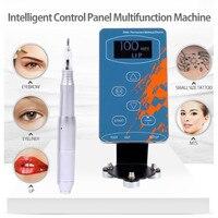 Professional Eyebrow Tattoo Machine Pen Biomaser Permanent Make up Machine Eyebrows Microblading Makeup DIY Kit Tattoo Needle 1r