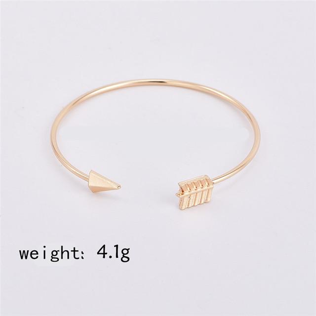 Vintage Arrow Knotted Charms Bracelet