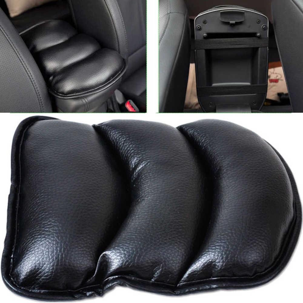 Alfombrilla de coche VODOOL funda de asiento de coche de cuero suave para el centro de coche Reposabrazos de la caja de la consola reposabrazos asiento de alta calidad alfombrilla protectora
