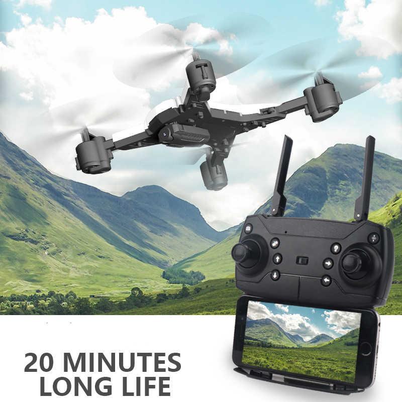 Новый Радиоуправляемый вертолет Дрон с камерой HD 1080 P wifi FPV RC Дрон Профессиональный складной Квадрокоптер 20 минут Срок службы батареи