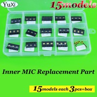 YuXi 15models Total 45PCS For IPhone Microphone Inner MIC Repair For Samsung For Nokia For Xiaomi