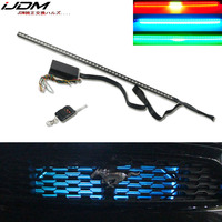 iJDM RGB 7 Color LED Knight Rider Scanner Lighting Bars For Camaro SS Under Hood Malibu City Express for 2015&up Ford Mustang