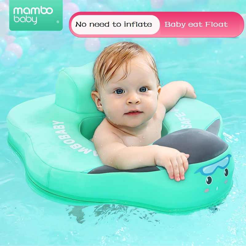 Inflatable Kids Water Float Ring with Handle Baby Swimming Ring for 1-6 Years Old Kids Safe Material and Soft Seat Toddler Pool Floats