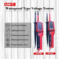 UNI T UT15B UT15C Waterproof Multi Function Voltage Detectors Volt Testing Pen AC DC Voltmeter Beeper