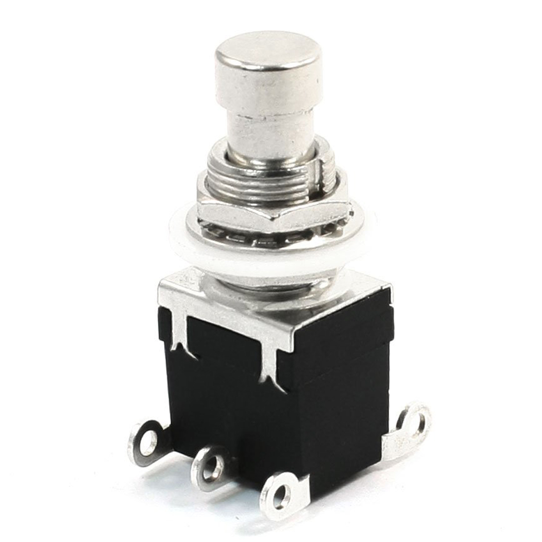 THGS-6Pins DPDT Momentary Stomp Foot Switch for Guitar AC 250V/2A 125V/4A [vk] av044746a200k switch pushbutton dpdt 6a 125v switch