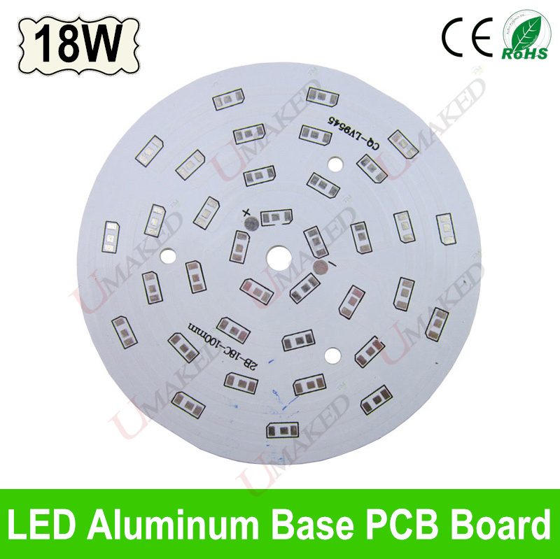 18W 100mm LED PCB board for 5730 5630 leds, Heat sink board, 18W LED aluminium plate Base for bulib light, ceiling light 10pcs led aluminum plate 40mm for 5w 5730 smd heat sink