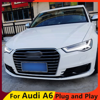 KOWELL Car Styling for AU DI A6L led headlights 2016 2017 for A6L drl ALL LED Bi Xenon Lens angel eye low beam