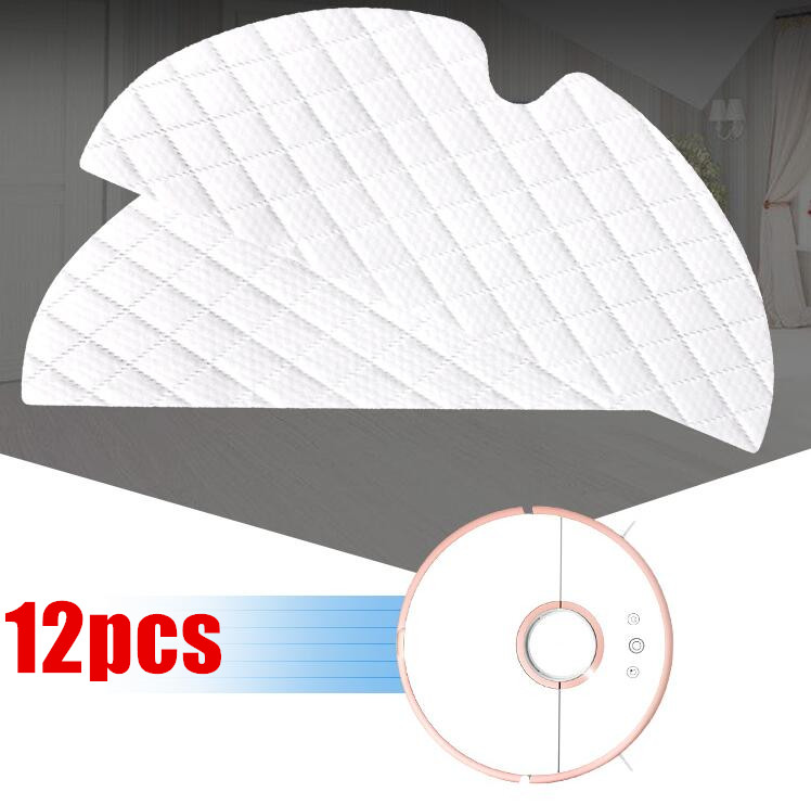 12pcs/lot Disposable Roborock S50 S51 Parts Mop Cloths for Xiaomi Vacuum Cleaner Generation 2 Dry Wet Mopping Cleaning 2pcs original roborock s50 s51 parts mop cloths for xiaomi vacuum cleaner generation 2 dry wet mopping cleaning
