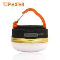 TOPIA STAR USB Rechargeable Camping Lantern Waterproof Power Bank Brightness Portable Led Light Mini Tents Lights