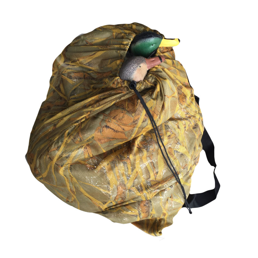 GUGULUZA Duck Decoys Bag With Shoulder Straps Mesh Backpack Decoy Bag Pigeon/Dove Carry Large Decoy Storage Net Bag for Hunting цена 2017