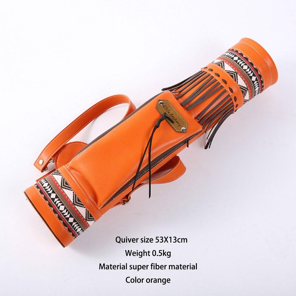 Открытый фастбэк Индийский оранжевая стрелка бака регулируемый мягкий колчан пятна