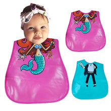 Cute Baby Bibs Infant Burp Cloths Toddler Scarf Feeding Smock EVA Waterproof Coverall Animals Baby Feeding Accessories(China)