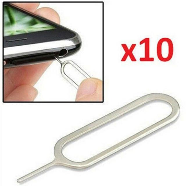 10 Pcs האוניברסלי מתכת SIM כרטיס מגש מפליט סיכת מסיר Neddle עבור טלפון Tablet אוניברסלי מתכת SIM כרטיס מגש פין