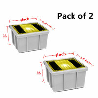 2X Amber Yellow Solar Deck Lights Floor Lamp Garden Road Led Underground Light Outdoor Lighting Grondspot