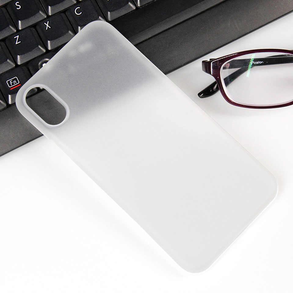 Iphone 7 8 artı X XR XS MAX 0.3mm Ultra ince mat Coque Fundas TPU kapak kılıf