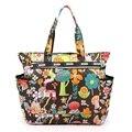 Women Handbag Nylon Waterproof Beach Bag Multicolor Flower Print  Mummy Big Tote Bag Travel Shopping Shoulder Bag Bolsa Feminina