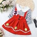 2016 novas crianças vestido da menina flor vestido para as meninas do bebê roupas de verão crianças marca meninas do partido da princesa vestidos roupa das crianças