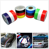 Car Styling 300CM DIY Decal Wrap Car Body Stickers Russia France Germany Flag Film Accessories For