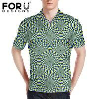 FORUDESIGNS Funny Graffiti Polo Shirt For Men Fashion Casual Mens Polos Shirts 2017 Male Short Sleeve