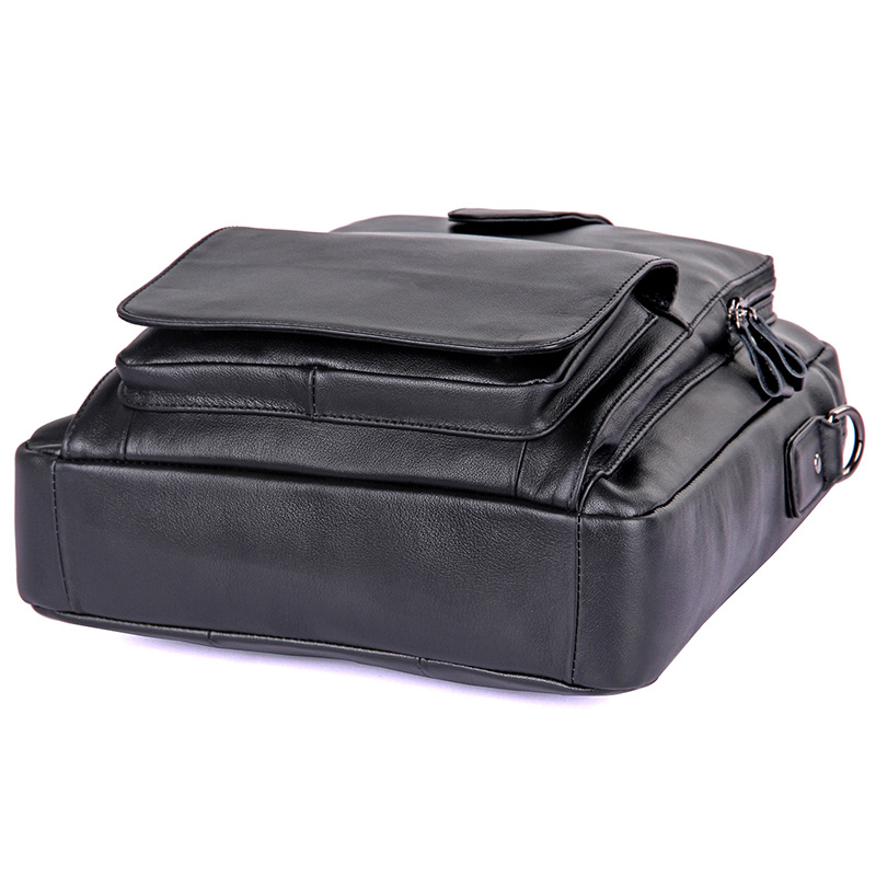 J.M.D Натуральная кожа Мужская маленькая Hnadbag однотонная черная сумка мессенджер модная сумка через плечо высокое качество сумка на плечо 7266A - 3