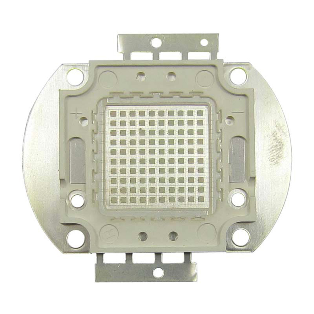 High Power 100W Square Base UV Ultraviolet 420nm SMD LED diodes Light Parts For Sterilization 100w square base infrared ir 850nm smd led light lamp parts 17v 3500ma