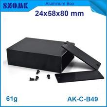 10pcs/lot top sales electrical aluminum housing enclosure anodizing control box 24*58*80mm