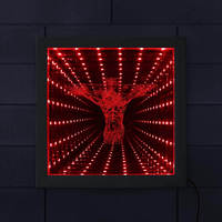 Jesus Cross 3D LED Infinity Mirror Wall Art Picture Wood Frame Jesus Christ Crucifixion Design Christian Gorgeous Lighting Gift