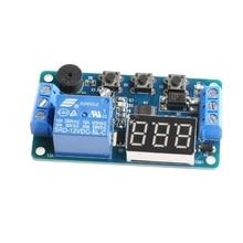 12 В модуль реле таймера задержки управления программируемый переключатель автомобильный зуммер светодиодный дисплей Прямая поставка