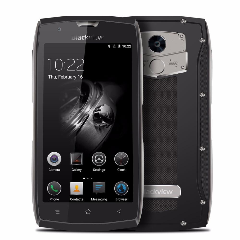Оригинал Blackview <font><b>bv7000</b></font> <font><b>IP68</b></font> Водонепроницаемый mt6737t 4 ядра мобильный телефон 5.0 &#8221;Android 7.0 2 г Оперативная память 16 г Встроенная память отпечатков пальц&#8230;