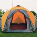 8-10 person high quality Windproof waterproof outdoors 3000mm hex tent Durable family camping gear party marquee tente tenda