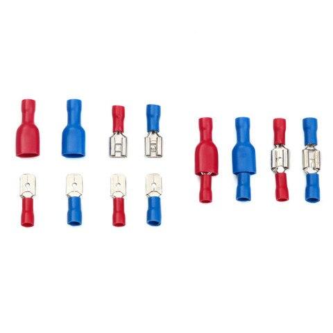 terminadores de cobre conjunto com caixa armazenamento azul vermelho