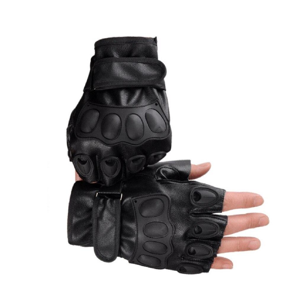 Половина Finger Прихватки для мангала из искусственной кожи Для мужчин Прихватки для мангала для тактического Военная Униформа тренировки сп...