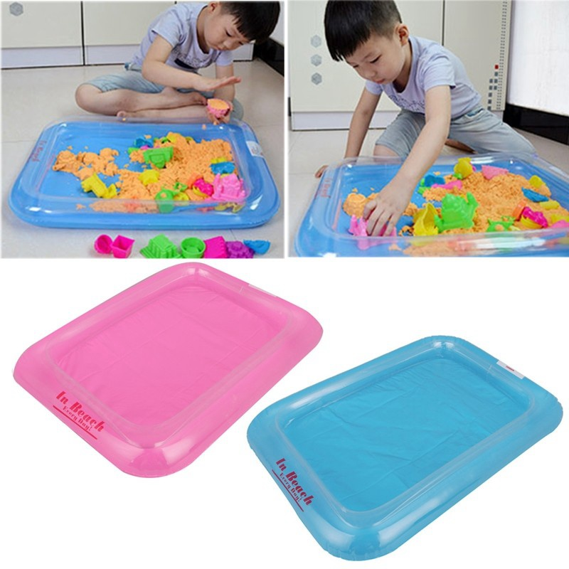 1pcs Children Beach Play Sand Inflatable Sandbox Beach Toys Sand Kids Baby  Ability Playdough Polymer Clay Toys Blue And Pink In Modeling Clay From Toys  ...