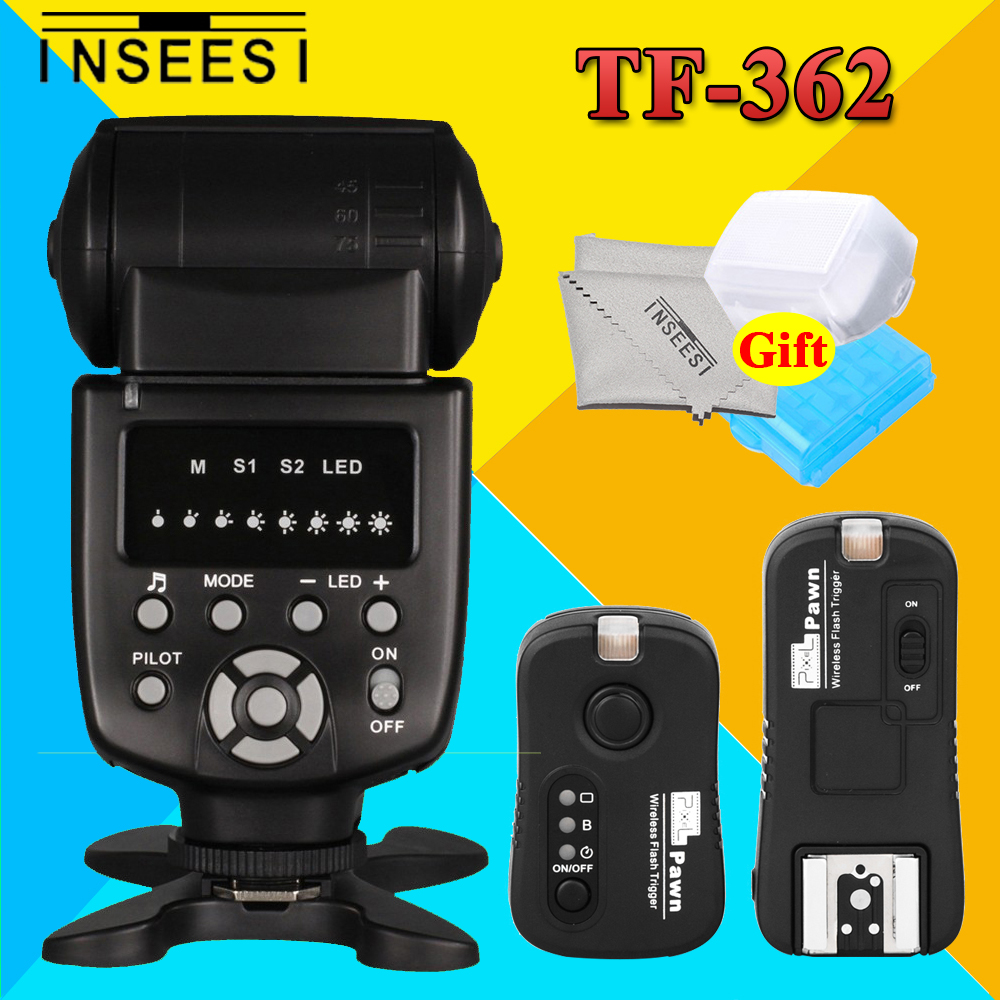 INSEESI IN-560IV 560IV Wireless Flash Speedlite + Pixel Pawn TF-362 Flash Trigger Transmitter and Receiver For Nikon DSLR Camera