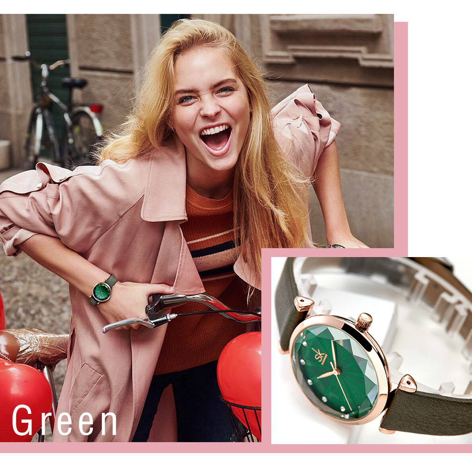 SK Luxury Brand Leather Ladies Wrist Watches Women Prism Quartz Watch For SHENGKE Female Clock reloj mujer 2019 relogio feminino (5)