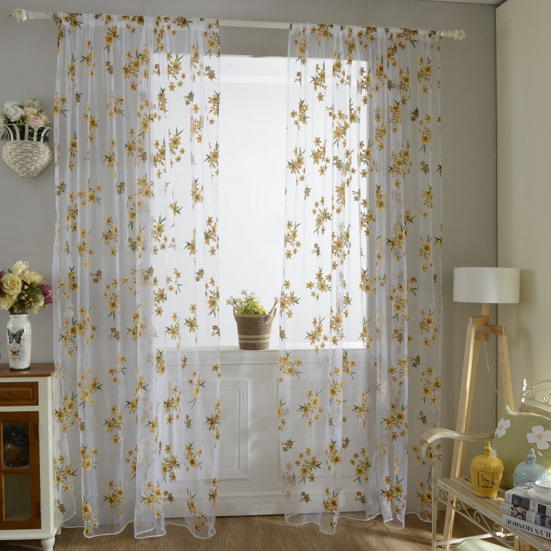 living room drapes and curtains decorated navy blue 1x2m sweet new sheer tap top curtain window living room drapes floral curtains panel in from home garden on aliexpresscom alibaba group