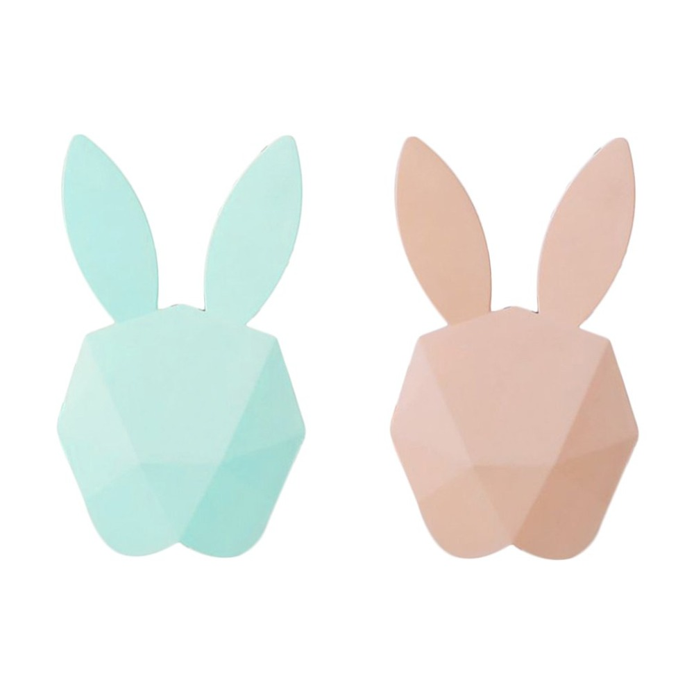 Lovely Cute Design Animal Rabbit Shape Digital Alarm Clock LED Luminous Sound Night Light Wall Clocks for Bedroom Dropshipping