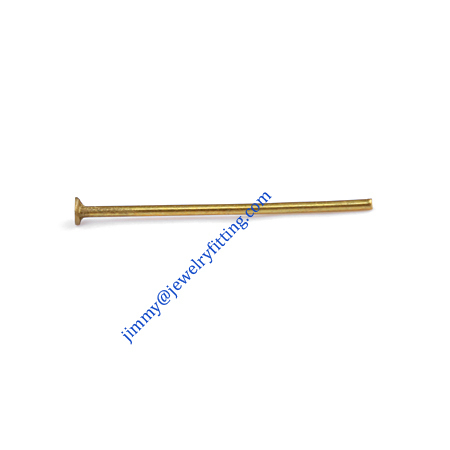 Jewelry Making findings Raw brass metal Head Pins with flat end Scarf Pins jewellry findings 0.7*18mm shipping free