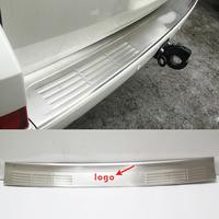 Stainless Steel Rear Bumper Protector Sill Trunk Tread Plate Trim For Toyota Land Cruiser 2008 2016