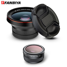FANBIYA Fisheye Mobile Phone Camera Lens 15x Macro lenses + 0.6x 58mm Wide Angles +185 Fish eys Lens for iphone xiaomi samsung