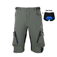 לנשימה רכיבה על אופניים מכנסיים MTB Downhill מכנסיים מכנסיים מכנסיים מהירים יבש אופני הרי אופניים מכנסיים עם רפידות ג 'ל