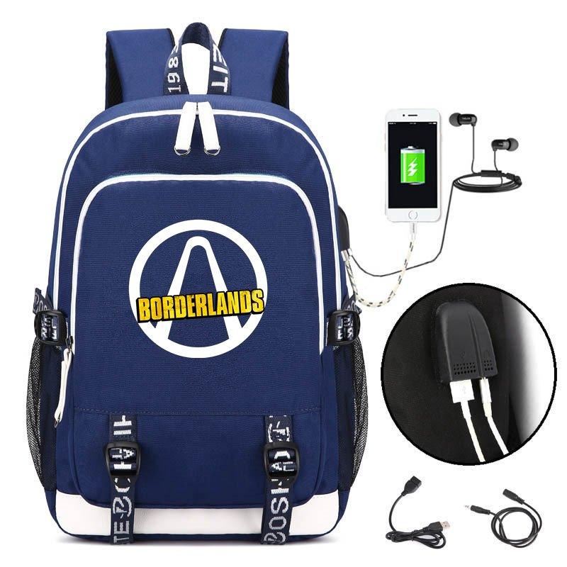 Hot Game <font><b>Borderlands</b></font> Backpack Cosplay Kids Teens Laptop Shoulder Travel Bag Anime Gamer Student School Bags Gift image